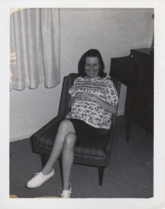 A young Judy Rhoads, aka my Mom. May 18, 1967, less than a month before she had my sister Lin.